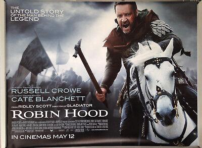 Cinema Poster Robin Hood 2010 Horse Quad Russell Crowe Cate Blanchett Ebay