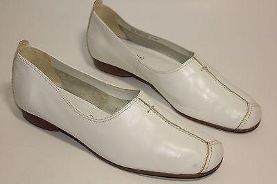 Zapatos Planos De Cuero Blanco para Mujer ambición UK 7 EU 40