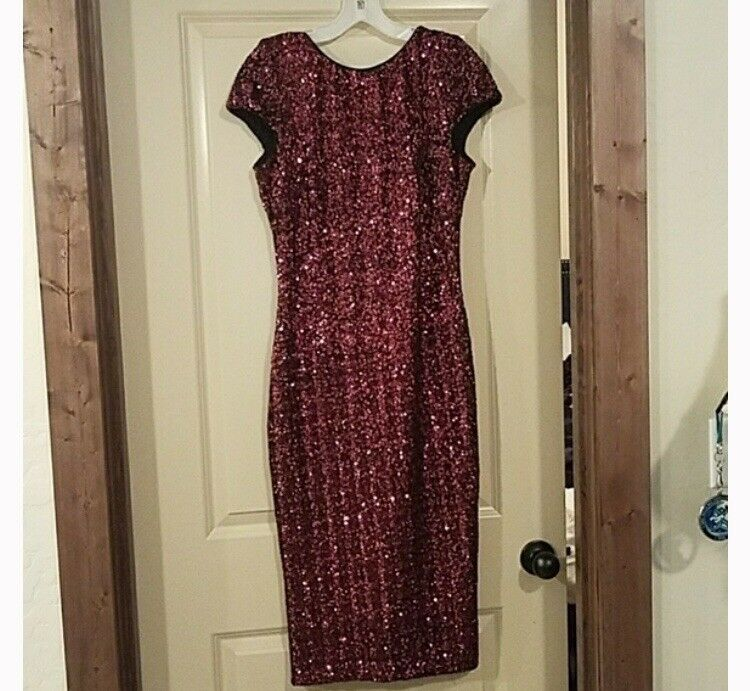 Dress The Population Sequin Dress Size S S S Wine color NWT From Nordstrom ee14bd