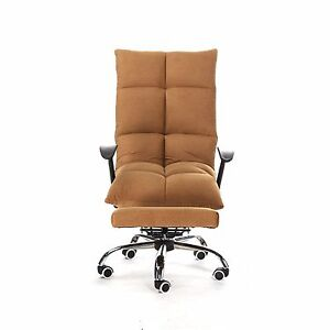 Tatami Computer Office Desk Chair Footrest High Back Microfiber PU Leather