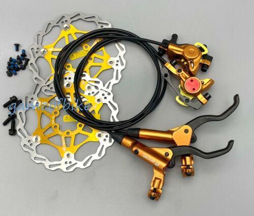 MTB bike Hydraulic Disc Brakes Calipers Front Rear brake lever Rotors 160mm