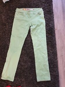 Lumineux Vert Jeans River Island Taille 12