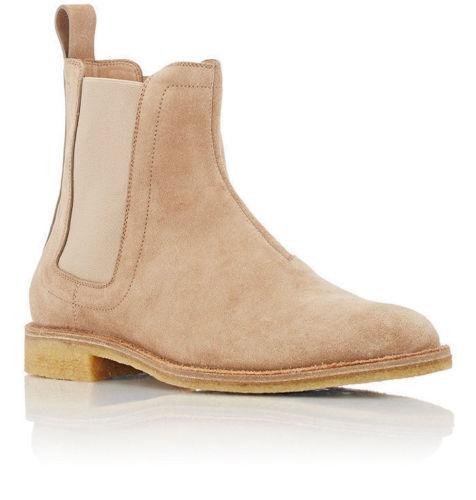 Suede Leather Genuine Handmade Chelsea Casual scarpe Beige stivali Men WpTZvS6n