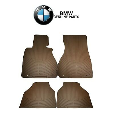 For BMW E83 X3 04-10 Pair Set of Front /& Rear Rubber Floor Mats Beige Genuine