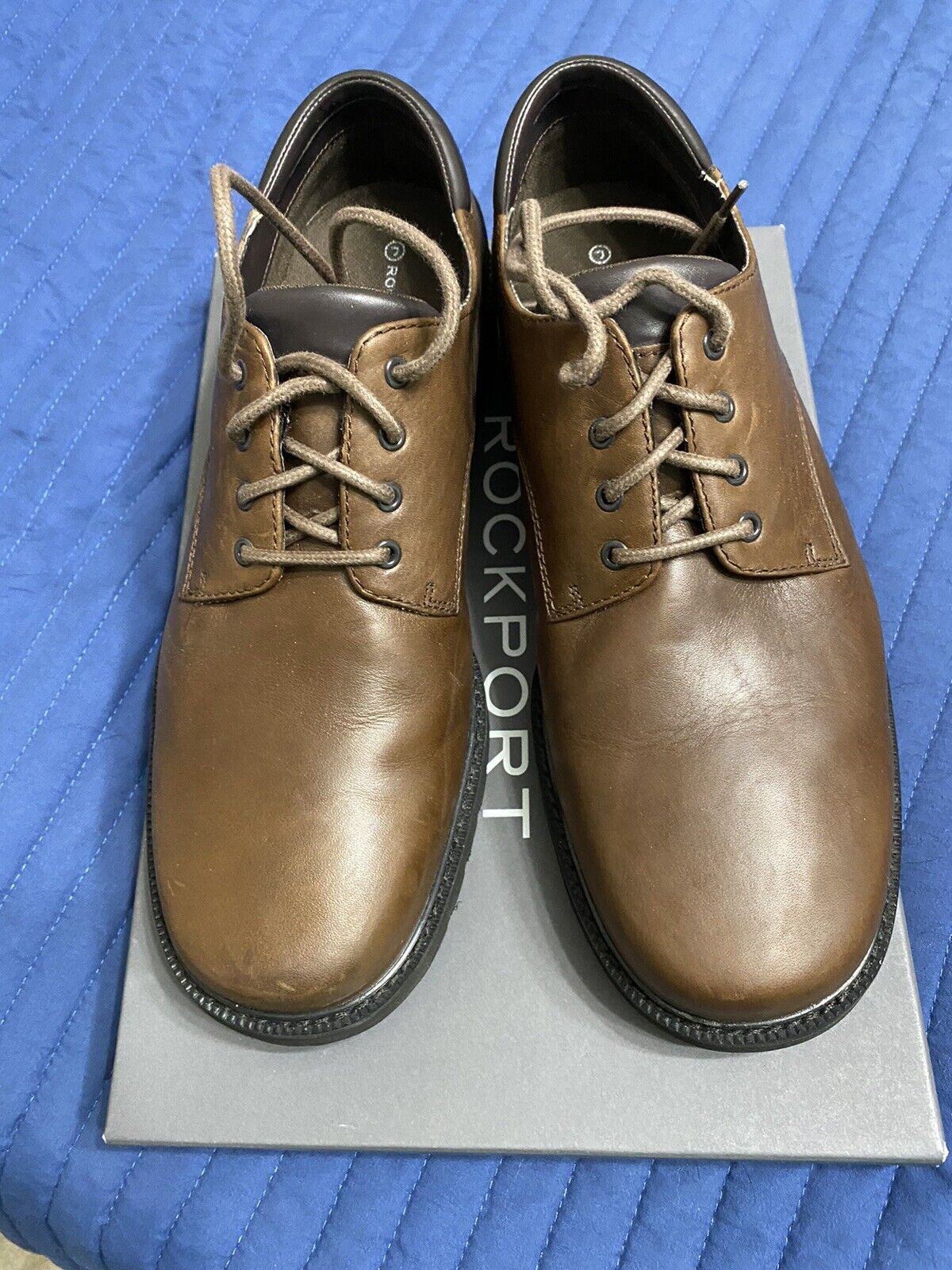 Joseph Abboud Mens Leather Dress / Casual Shoes Brown Size 11.5M Great Condition