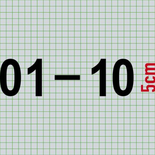 01-10 zweistellige Ziffern 5cm Zahlen Haus Zimmer Nummern Aufkleber Tattoo