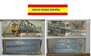 TRENES-PUENTES-FOOTBRIDGE-GIRDERBRIDGE-PASARELAS-AIRFIX-SOBRENIVEL-HO-OO-ESCALA