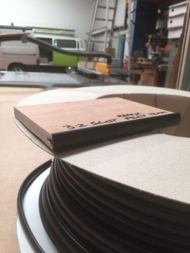 12MM T TRIM BLACK TABLE TRIM 10 METRES FURNITURE KNOCK ON EDGING VW CAMPERVAN