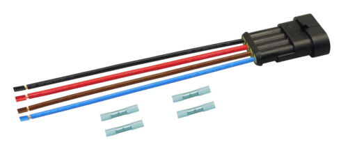 AMP Superseal Stecker Stift 4-polig 1,50² konfektioniert Kabel Elektrik KFZ LKW