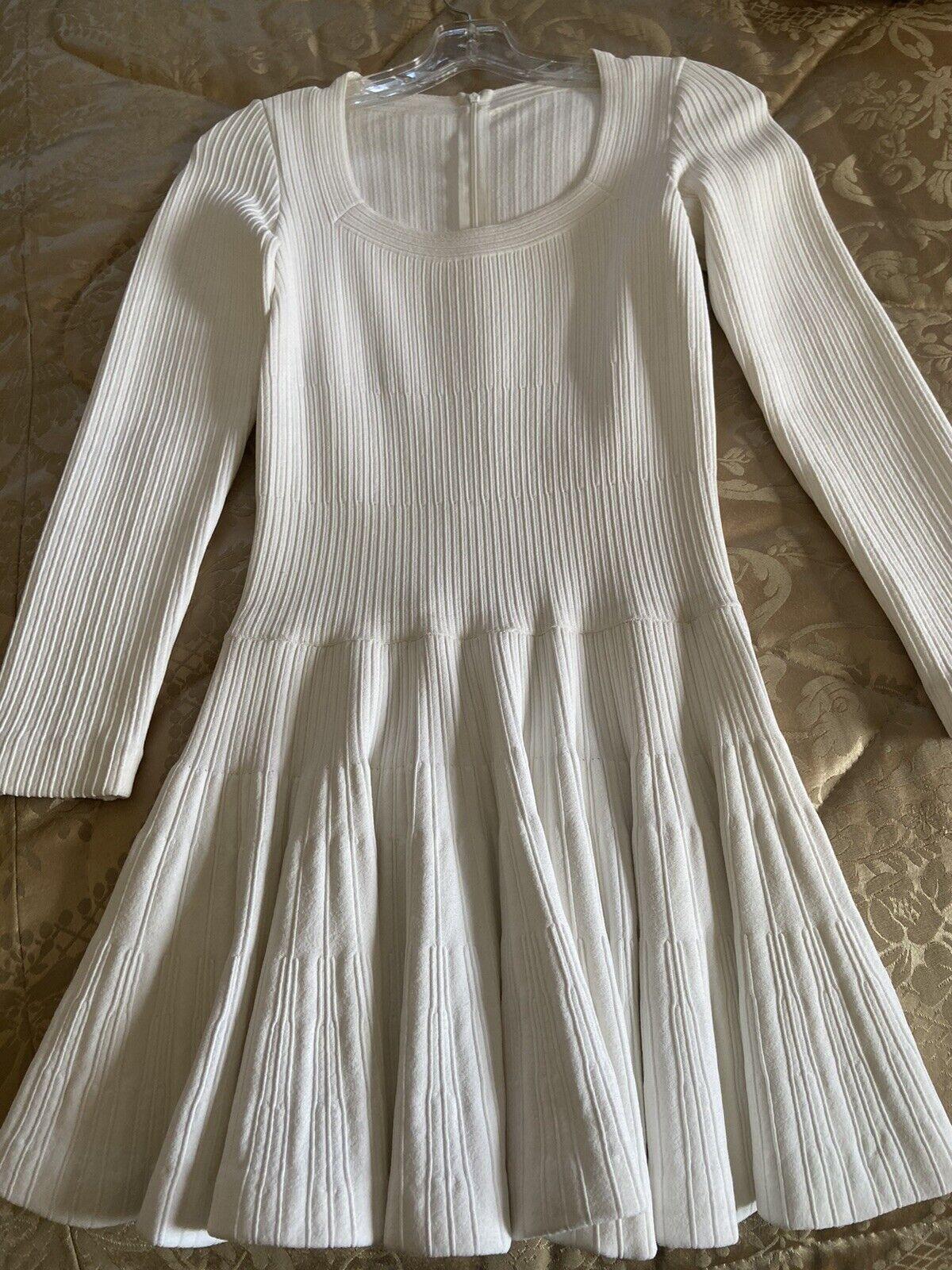 Azzedine Alaia White Long Sleeve Top Blouse Dress… - image 11