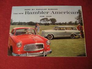 1959 Nash Rambler sales Brochure booklet Catalog Book Old Original