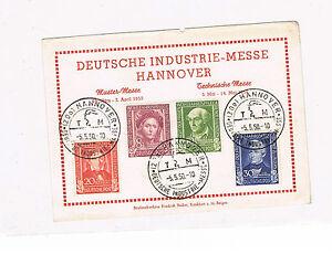 Bund Spécial Feuille Pour Industrie Foire Hanovre Minr. 117 - 120 Jeu Impeccable-afficher Le Titre D'origine Correspondant En Couleur
