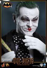 "Sideshow Hot Toys 12"" 1/6 Batman Jack Nicholson Joker Mime Figure"