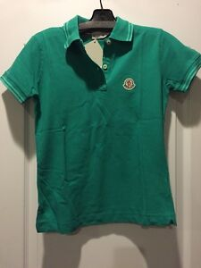 Image is loading Moncler-Green-Polo-Shirt-Size-S