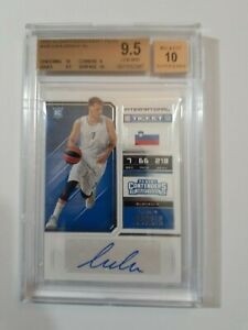 Luka-Doncic-Auto-BGS-9-5-GEM-MINT-10-Subs-2018-19-Panini-Contenders-Draft-Picks