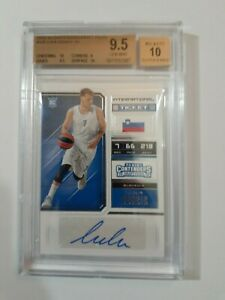RARE-Luka-Doncic-Auto-BGS-9-5-GEM-MINT-2x-10-Subs-2018-19-Contenders-Draft-Picks