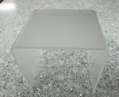 "Quantity 1 Frosted Acrylic Risers P95  1/8"" 1"" x 1"" x 1"""