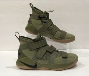 62c5505448 Nike Lebron Soldier XI 11 SFG Basketball Shoes Olive Black 897646 ...