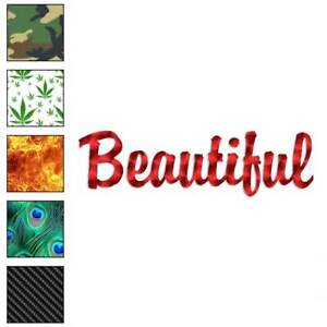 Size #1578 Beautiful Decal Sticker Choose Color