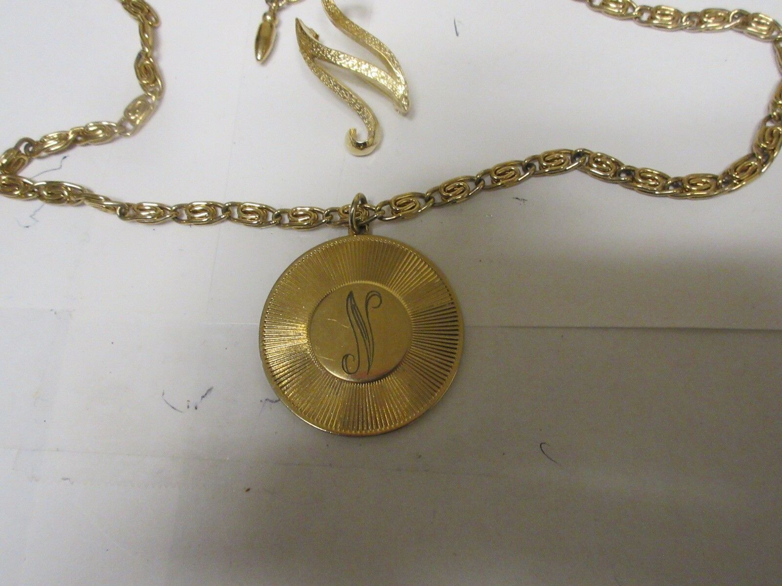 """Costume Jewelry ,Vintage , Necklace , """"N"""" , 22"""" Long ,"""