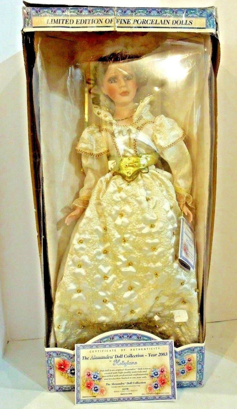 Alexandra Collection Limited Edition Handmade Porcelain Doll 2003 26 inch COA