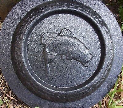 Bass fish mini birdbath mold bird feeder plastic mould