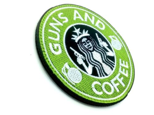 Guns And Coffee Grenade Embroidered Airsoft Cosplay Patch