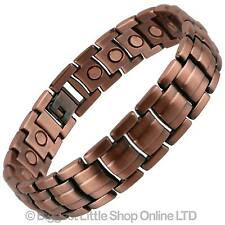 NEW Style MAGNETIC Bracelet Copper Finish Bio Magnet NdFeB Neodymium Therapy Men