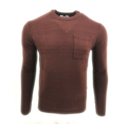Mens Ex Topman Styling Crew Neck Chest Pocket Winter Christmas Sweater Jumper