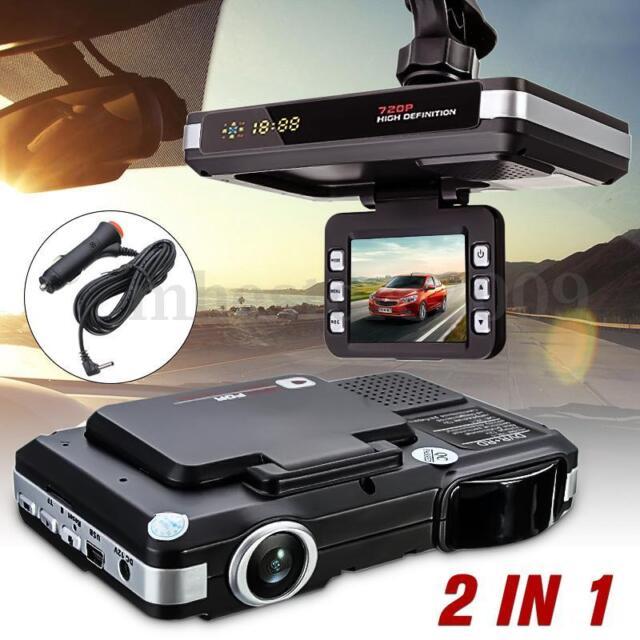 2in1 HD Car Hidden DVR Camera Recorder Radar Laser Speed Detector Dash Cam Gifts