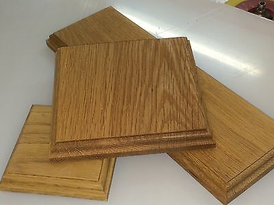 22mm solid oak hardwood display plinth//bases