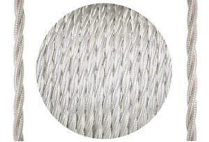 Akcesoria Textilkabel verseilt Elfenbein 3x0.75 mm² aus europäischer Produktion