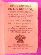 USOS, Y COSTUMBRES DE LOS GRIEGOS