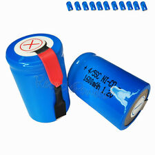 11x 1600mAh Ni-CD 4/5SC SubC Sub C 1.2V Rechargeable Battery with Tab univerisal