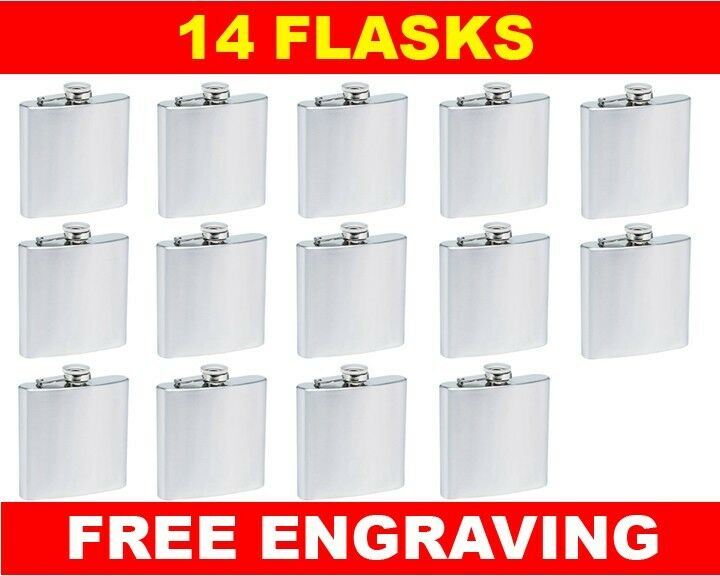 14 Personalized Flasks 6oz groomsmen usher Beste man bridesmaid engraved gift