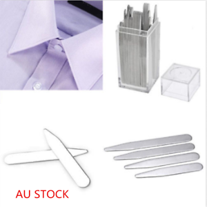 40x-Metal-Collar-Stays-Shirt-Bone-Stiffeners-Inserts-Gifts-For-Man-Father-039-s-Day