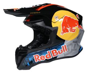 MX / Motocross Helmet Red Bull KTM Black Yellow Red Blue Size XL Unisex Adult