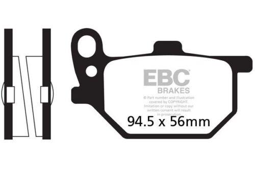 FIT YAMAHA RD 400 E//F 78/>79 EBC REAR ORGANIC BRAKE PADS