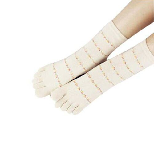 Lovely Cotton Crew Socks Women/'s Middle Tube Sports Running Five Finger Toe Sock