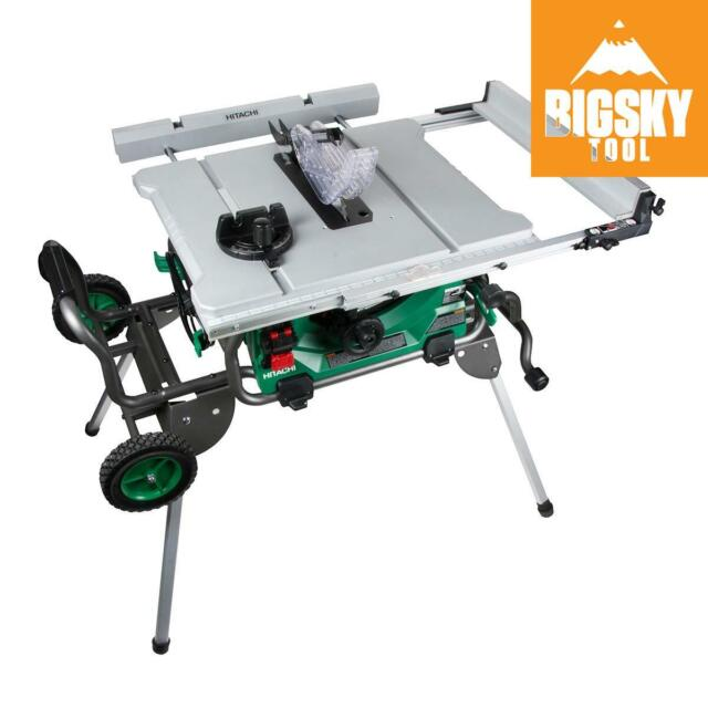 C10rj 10 Jobsite Table Saw W Fold Roll Stand Reconditioned Grade C