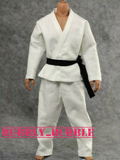 1/6 Scale Judo Gi White Clothing Bruce Lee Kung Fu Suit Set SHIP FROM USA