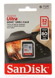 SanDisk-32GB-Ultra-SDHC-SD-Tarjeta-clase-10-UHS-I-tarjeta-de-memoria-80MB-S-Para-Camara-UK