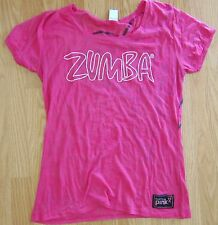 Zumba® Party In Pink Burnout Tshirt -Pink  - Large - RARE