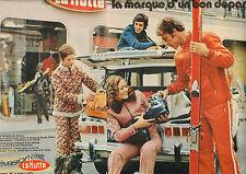 Publicité 1971  ( Double page )  LA HUTTE pret à porter vetement sport d'hiver