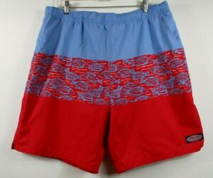 Vineyard-Vines-Men-039-s-Island-Batik-Printed-Chappy-Swim-Shorts-XL-Swim-NEW