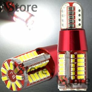 4-LED-T10-Red-Style-LED-57-SMD-NO-Errore-BIANCO-Canbus-Lampade-Luci-Posizione