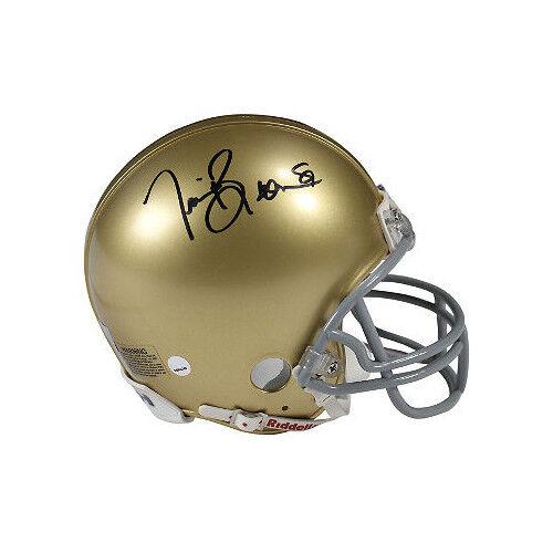 Steiner Holo black sig Tim Brown signed Notre Dame Riddell Mini Helmet #81