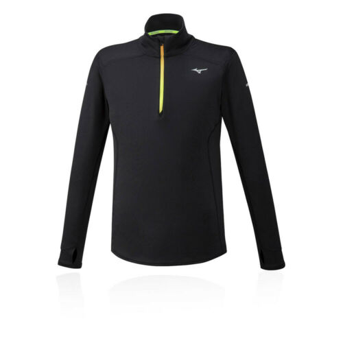 Mizuno Mens Warmalite Half Zip Top Black Sports Running Warm Breathable