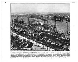 Hamburg-Port-Hafen-Germany-Tower-of-London-England-1897-PRINT