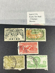 MEXICO STAMPS MIXTURE USED STAMPS COLLECTION LOT SETS GROUP COLLECTIBLE